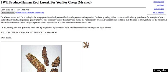 Randy's Craigslist ad (January)